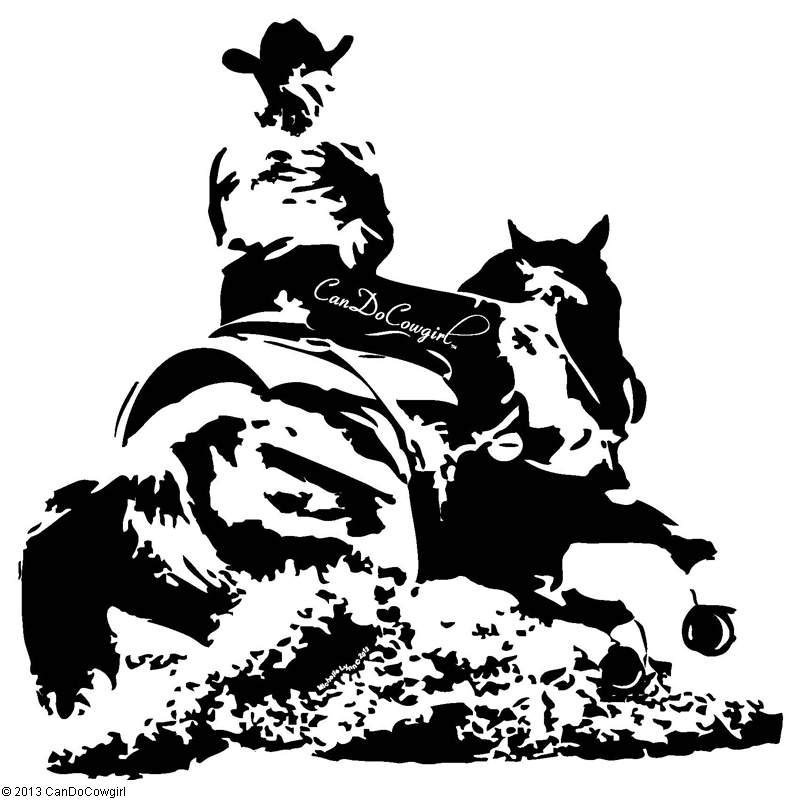 "52"" horse and rider vinyl wall decal - candocowgirl"