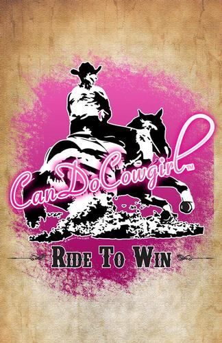 Pink Burst CanDoCowgirl Poster - Ride To Win