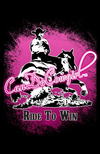 Black & Pink CanDoCowgirl Poster - Ride To Win